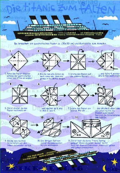 basteln titanic zum falten kinder zielgruppe deike verlag wir liefern inhalte. Black Bedroom Furniture Sets. Home Design Ideas