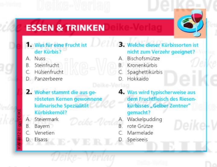 Essen & Trinken - Kürbis - Quiz KW 4812   Rätsel & Denksport ...