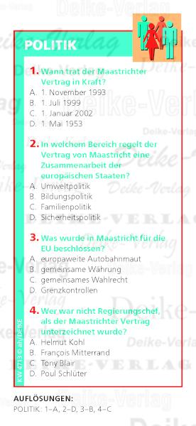 Thema Politik Maastrichter Vertrag Quiz Kw 4713 Rätsel